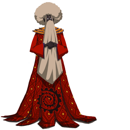 An old wise man in a long, red robe